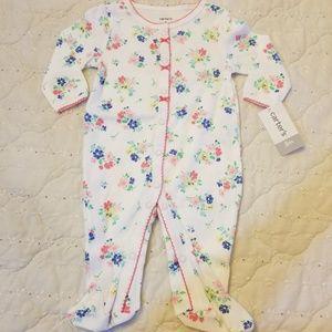 Baby girl footie pj's by Carter's